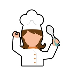 Chef cartoon icon Cooking and Menu design vector