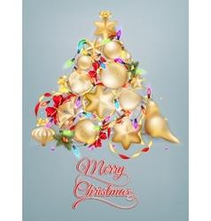 Christmas card with place for text EPS 10 vector image