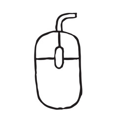 cmputer mouse storage doodle icon vector image