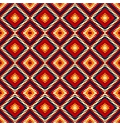 Colorful red yellow blue aztec ornaments geometric vector image