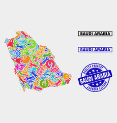 Composition service saudi arabia map and vector