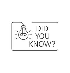 Did you know icon in flat style question mark on vector