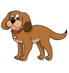 dog puppy vector image