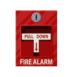 fire alarm system fire equipment vector image