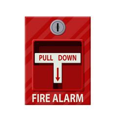 Fire alarm system fire equipment vector