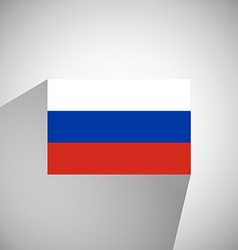 Flat flag of russia vector