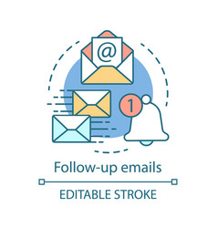 follow-up emails concept icon attracting clients vector image