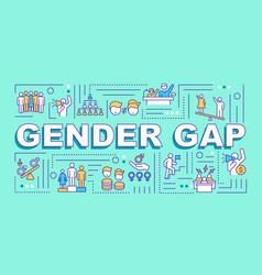Gender gap word concepts banner vector