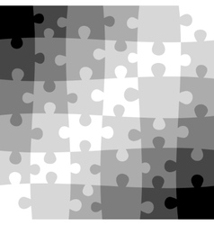 Gray puzzle background vector image