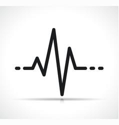 heartbeat symbol icon design vector image