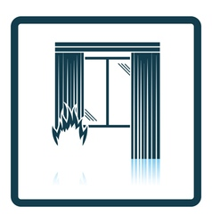 Home fire icon vector image
