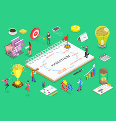 isometric flat concept parts of vector image