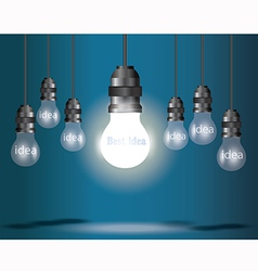 Lamp idea blue vector
