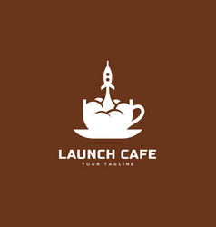 launch cafe logo vector image