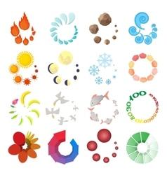 Loading icons set cartoon style vector image