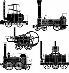 locomotive vector image