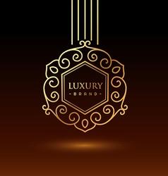 luxury brand logo vector image