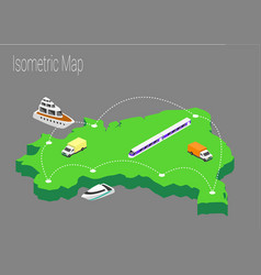 map brazil isometric concept vector image