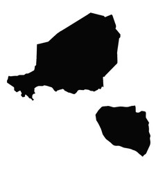 Map niger and niamey country and capital vector
