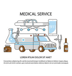 medical service website vector image
