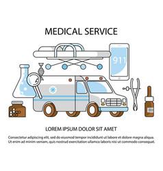 Medical service website vector