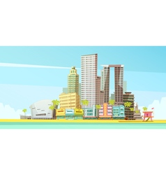 Miami skyline design concept vector