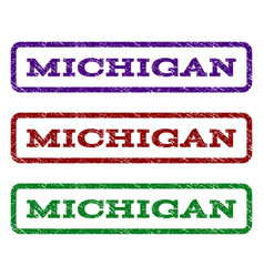 michigan watermark stamp vector image vector image