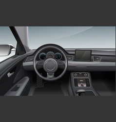 modern car interior with vector image