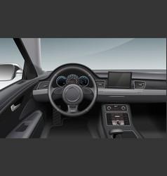 Modern car interior with vector