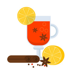 mulled wine cap vector image