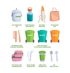 nature care zero waste processes cleaning vector image