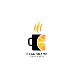 Orange drink logo design fruit symbol icon vector