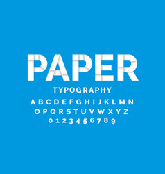 Paper font design alphabet letters and numbers vector