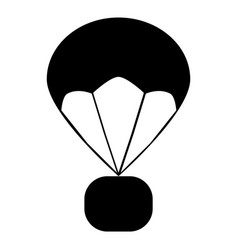 Parachute icon on white background flat style vector
