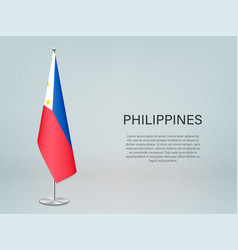 Philippines hanging flag on stand template vector