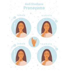 Pranayama yoga vector