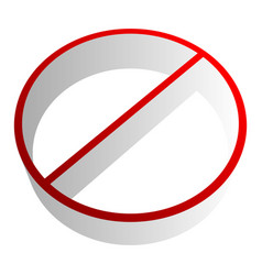 Prohibition-restriction sign icon no entry no vector