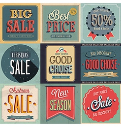 Sale set vector