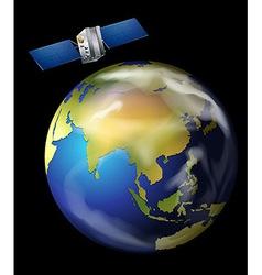 Satellite orbiting Earth vector image
