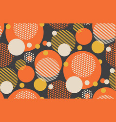 scattered circle geometry seamless pattern vector image