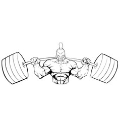 Spartan gym mascot grit line art vector