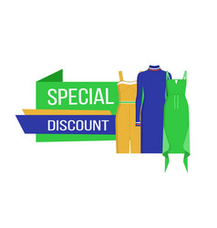 Special discount on clothes vector