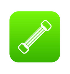 sports stretchable belt icon digital green vector image
