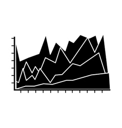 Statistical graphic chart vector