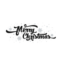 text on white background merry christmas vector image