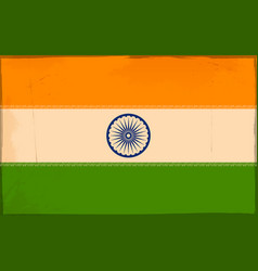 Tricolor indian flag background for republic an vector