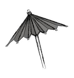 Umbrella cocktail decoration vector
