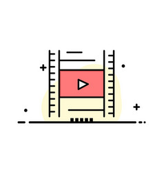 Video lesson film education business logo vector
