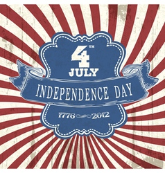 Vintage styled independence poster vector