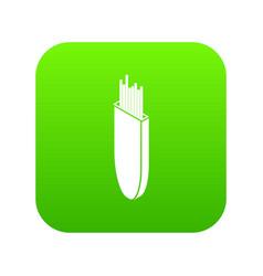 Welding rods icon green vector
